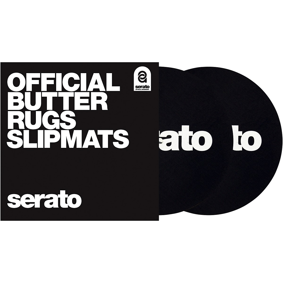 SERATO Butter Rug Thud Rumble 7 in. Black Turntable Slipmats (Pair)