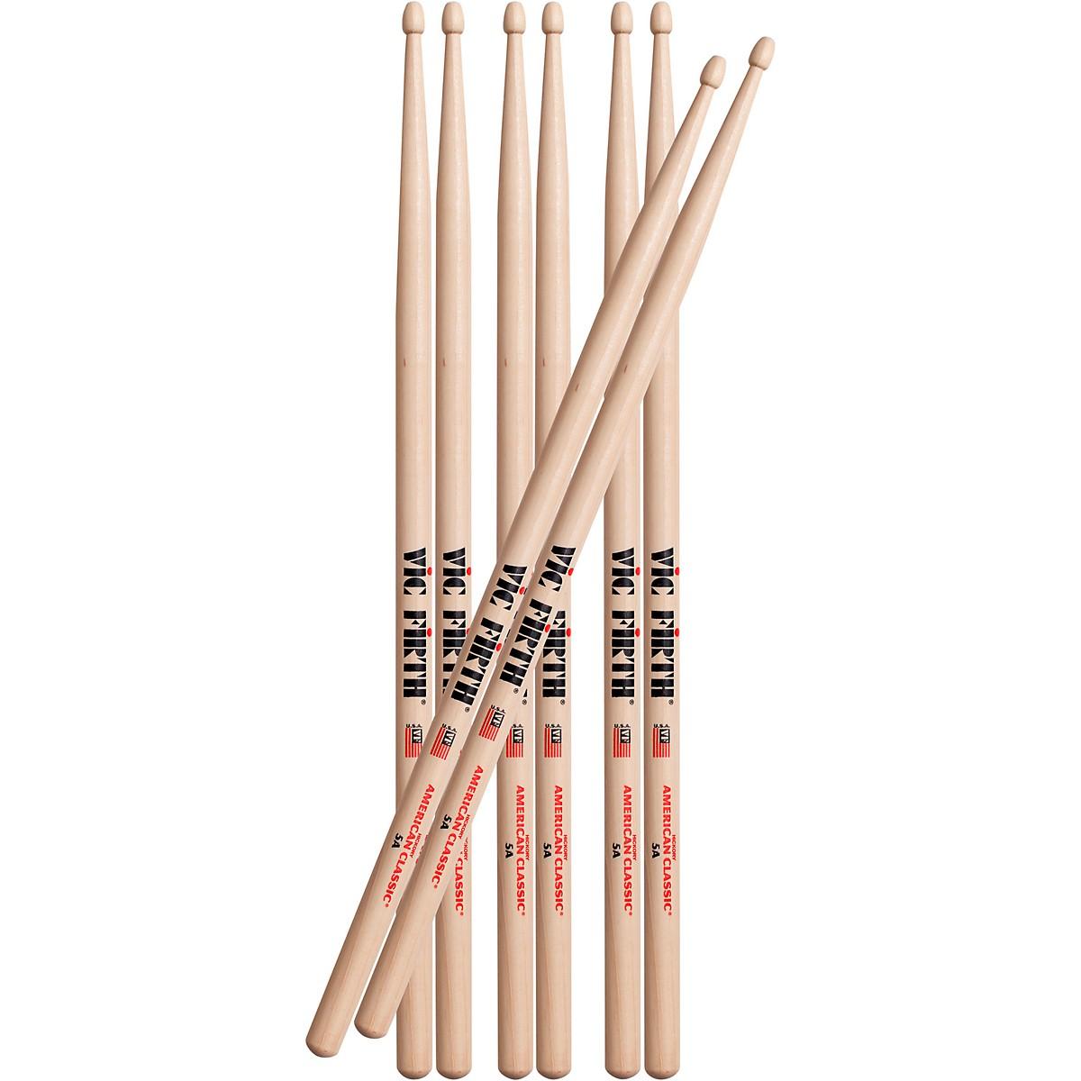 Vic Firth Buy 3 Pair 5A Drum Sticks, Get 1 Pair Free