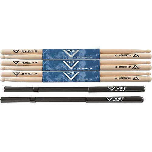 Vater Buy 3 Pair 5A Wood Tip Sticks get Free Whip