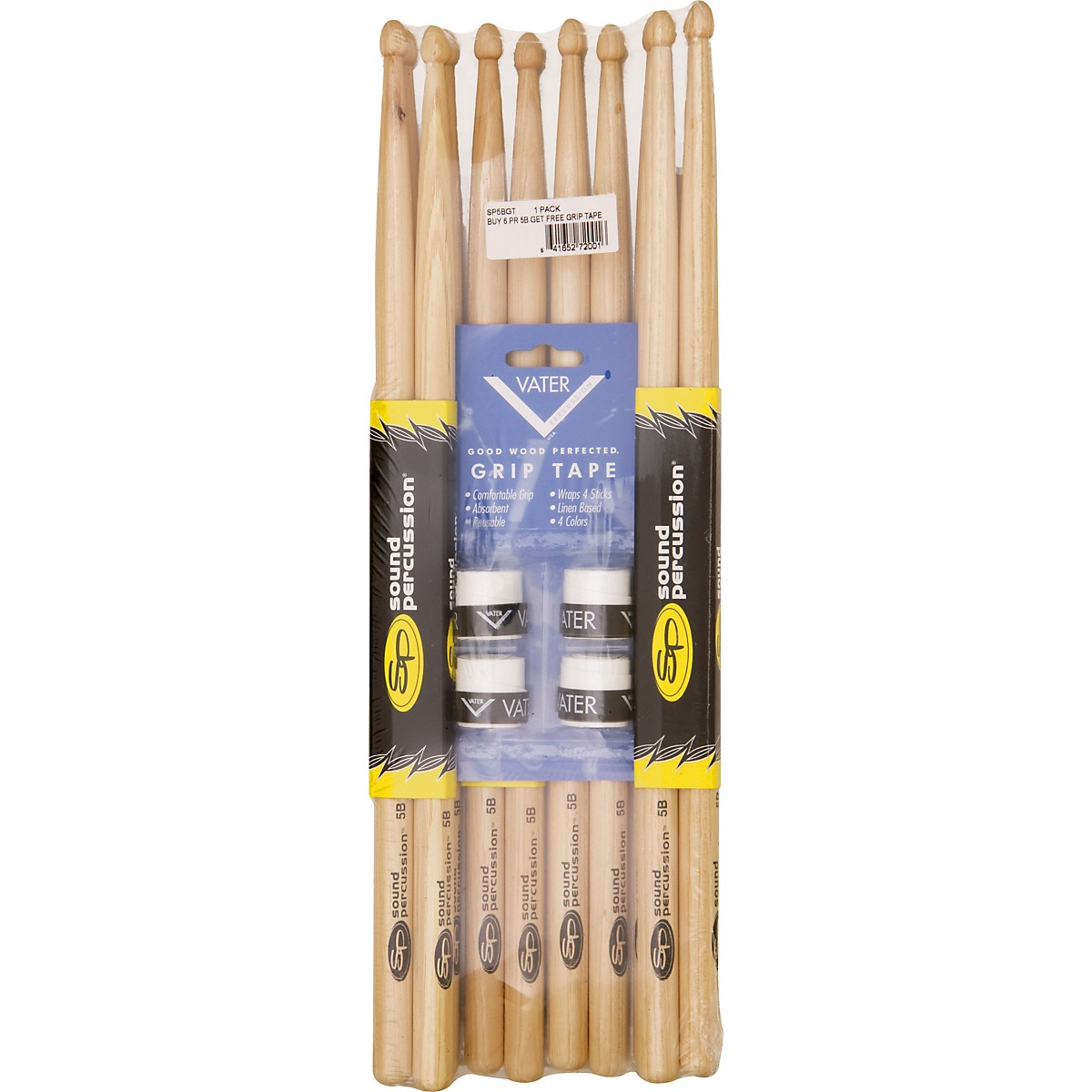 Sound Percussion Labs Buy 6 Pairs of Sound Percussion Sticks Get Free Vater Grip Tape