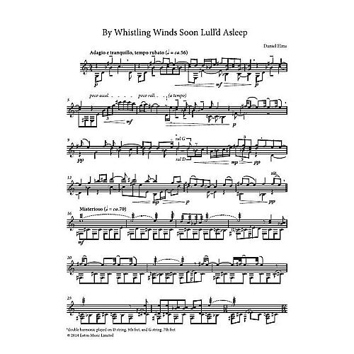 Chester Music By Whistling Wind Soon Lull'd Asleep (Guitar Part) Composed by Daniel Elms