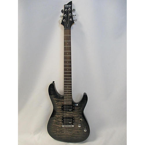 used schecter guitar research c 6 plus solid body electric guitar charcoal guitar center. Black Bedroom Furniture Sets. Home Design Ideas