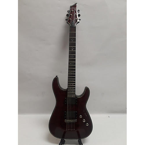 used schecter guitar research c1 hellraiser solid body electric guitar crimson red trans. Black Bedroom Furniture Sets. Home Design Ideas