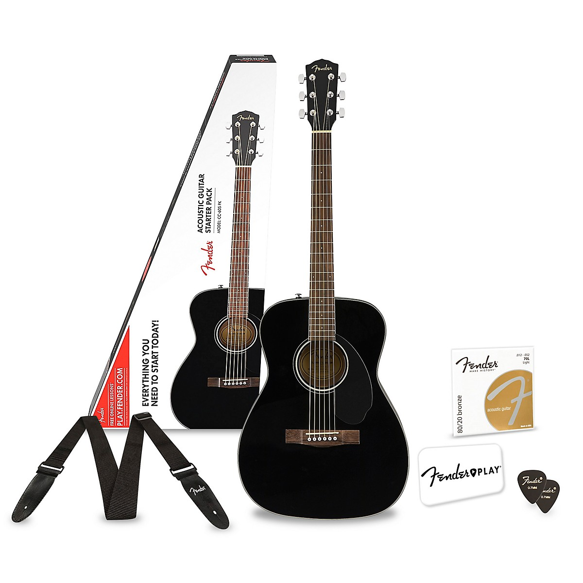 Fender CC-60S Concert Acoustic Guitar Pack With 3 Free Months Fender Play