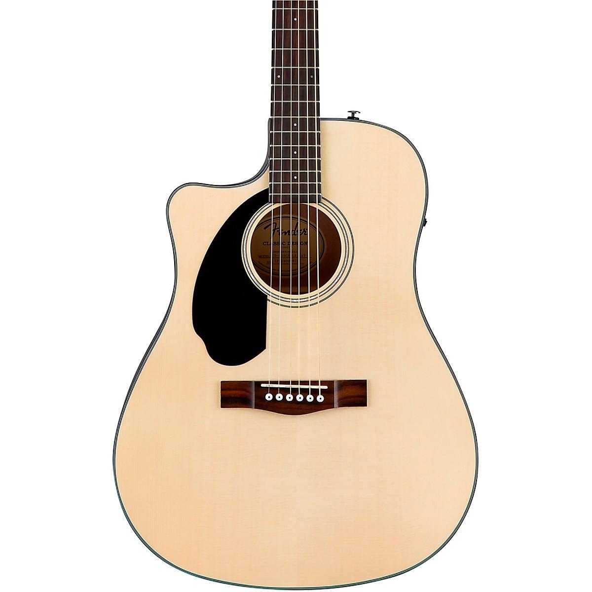 Fender CC-60SCE Concert Left-Handed Acoustic-Electric Guitar