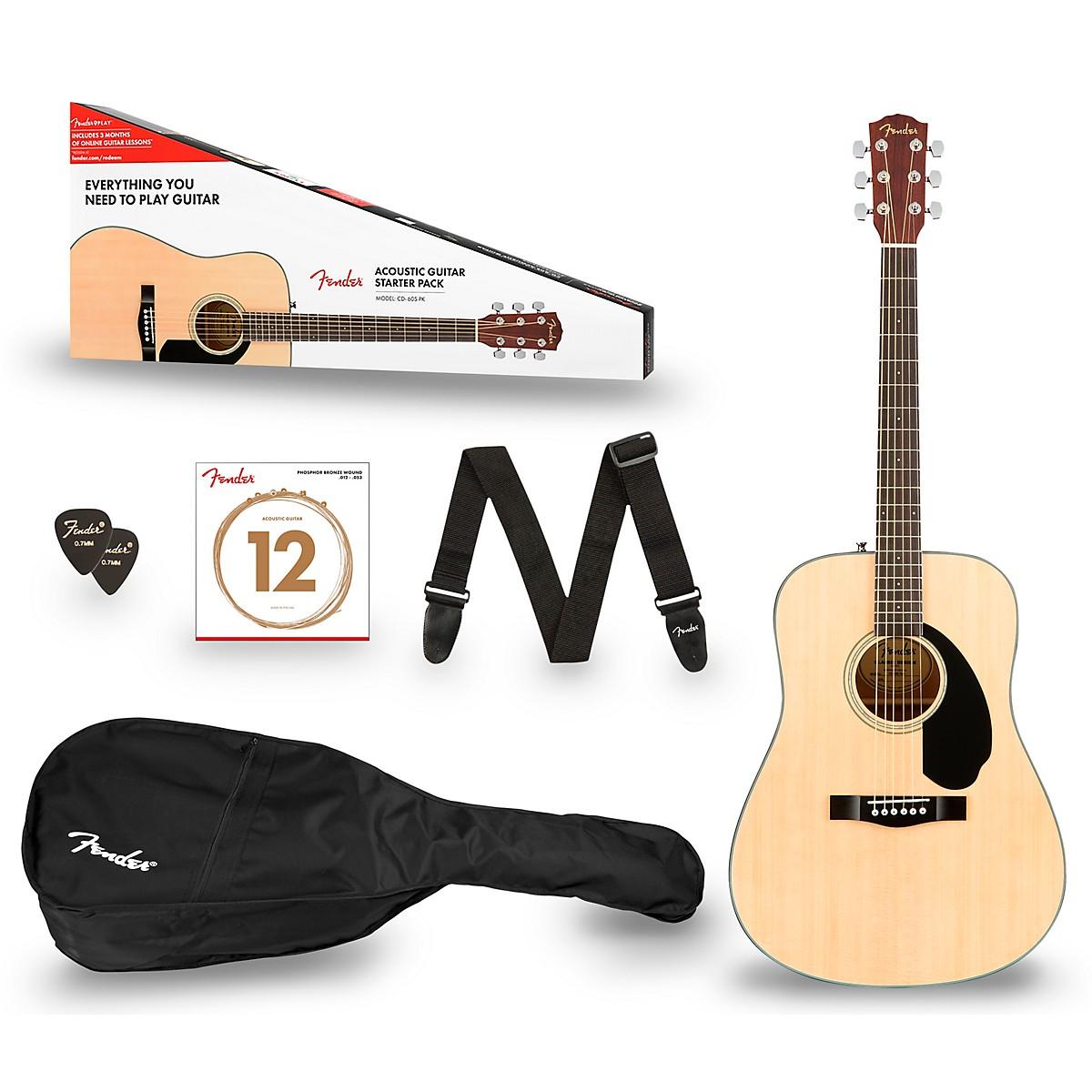 Fender CD-60S Dreadnought V2 Acoustic Guitar Pack