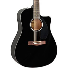 CD-60SCE Dreadnought Acoustic-Electric Guitar Black