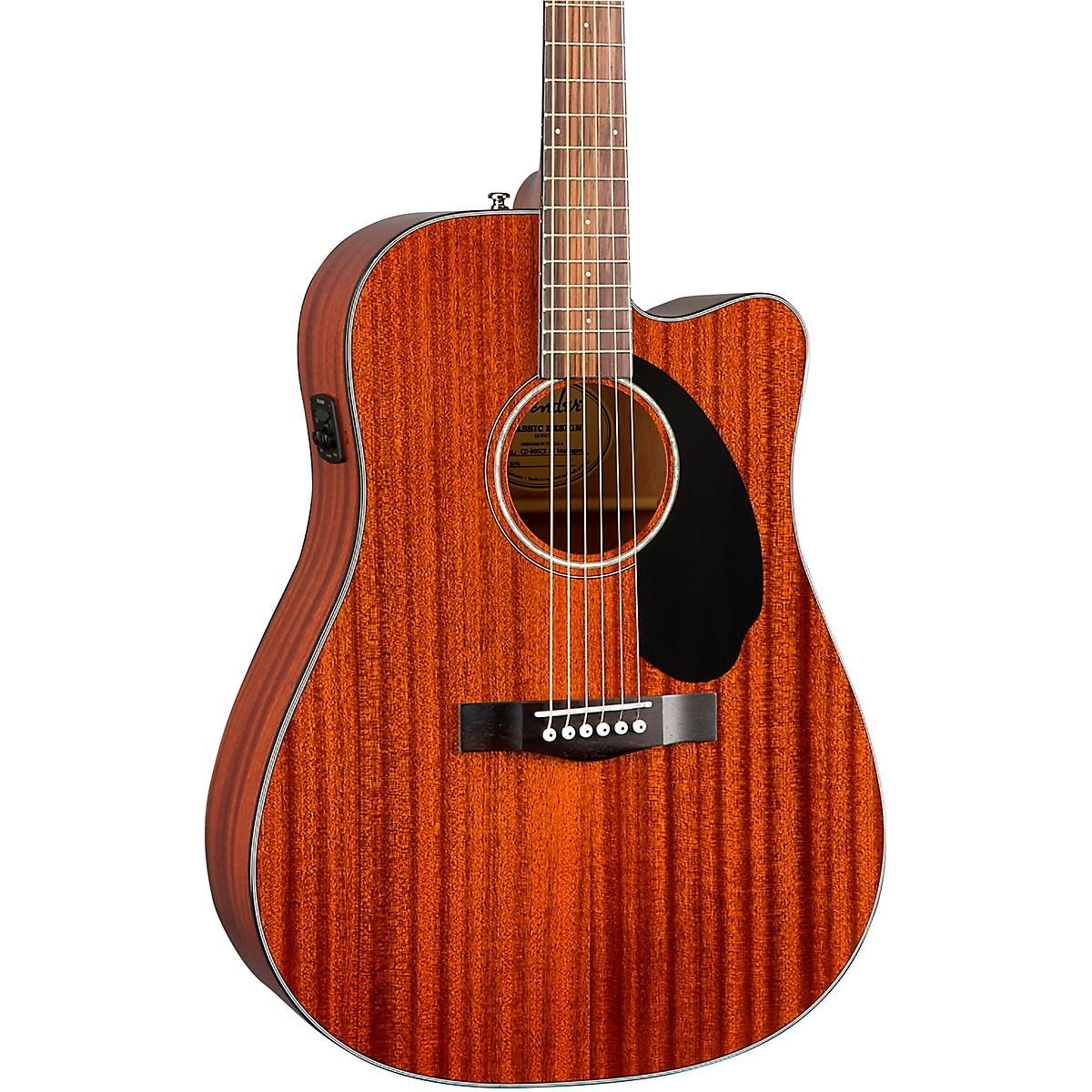 Fender CD-60SCE Dreadnought Guitare acoustique Naturel