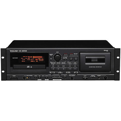 tascam cd a550 cd player cassette recorder guitar center. Black Bedroom Furniture Sets. Home Design Ideas