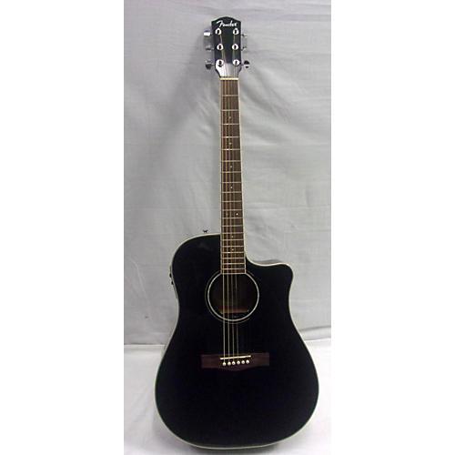 used fender cd140sce acoustic electric guitar black guitar center. Black Bedroom Furniture Sets. Home Design Ideas