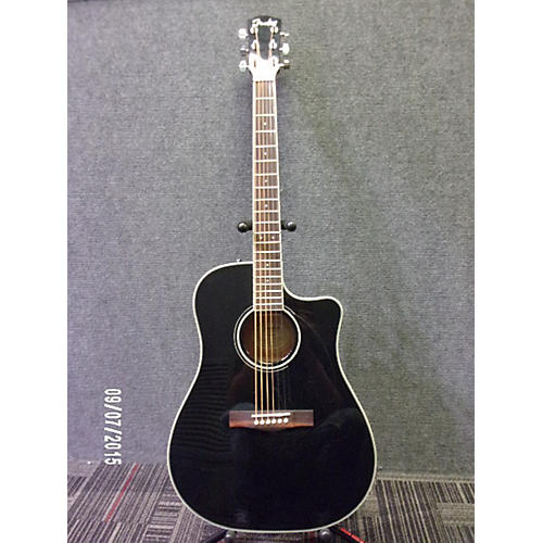 Fender CD140SCE Black Acoustic Electric Guitar