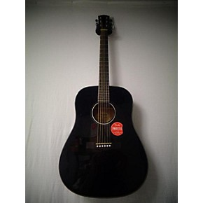 used fender cd60 dreadnought acoustic guitar black guitar center. Black Bedroom Furniture Sets. Home Design Ideas