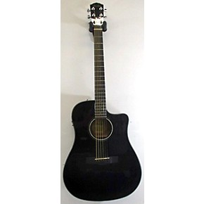 used fender cd60ce dreadnought acoustic electric guitar black guitar center. Black Bedroom Furniture Sets. Home Design Ideas