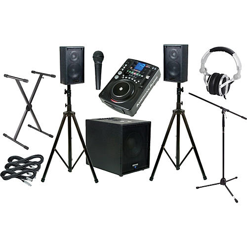 American Audio CDI500MP3/Tri PAK PA Mobile Scratch DJ Package