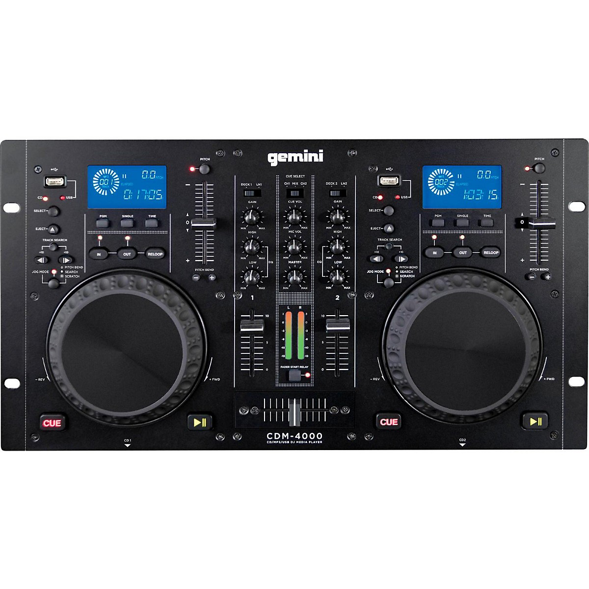 Gemini CDM-4000 Dual MP3/CD/USB Player and 2 Channel Mixer
