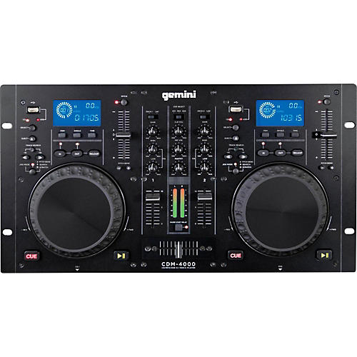 Gemini CDM-4000 Dual MP3/CD/USB Player and 2 Channel Mixer