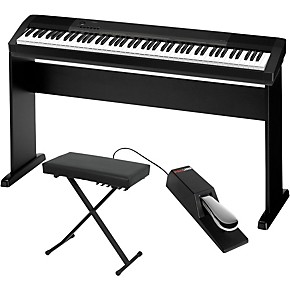 casio cdp 130 digital piano with cs44 wood stand sustain pedal and deluxe keyboard bench. Black Bedroom Furniture Sets. Home Design Ideas