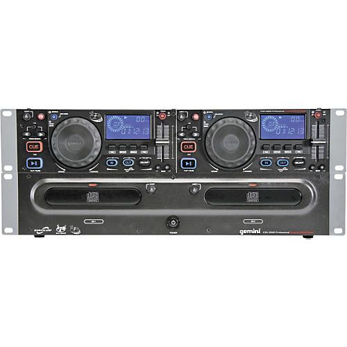 Gemini CDX-2500G Dual CD Player with Graphics Output