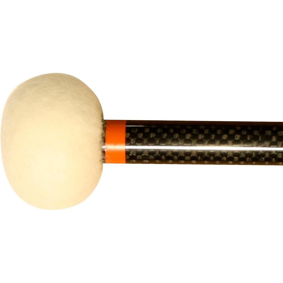 Black Swamp Percussion CF4 Carbon Fiber Timpani Mallets Legato (Orange)