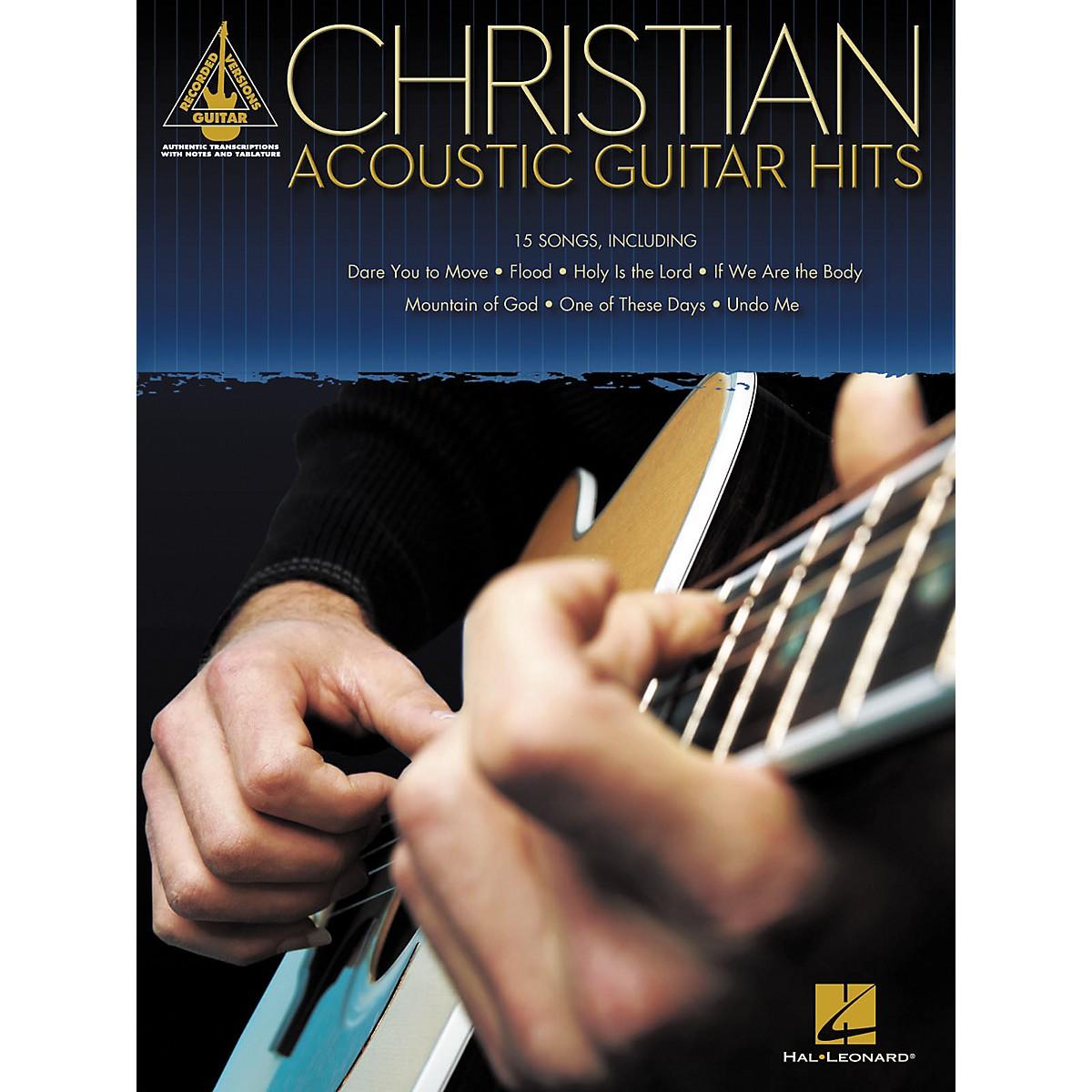 Hal Leonard CHRISTIAN ACOUSTIC GUITAR HITS GUITAR TAB SONGBOOK