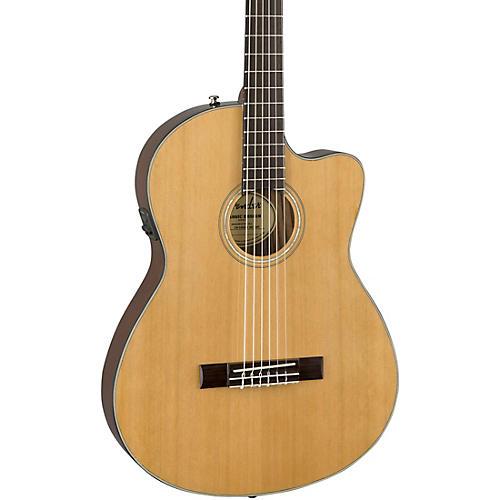 fender cn 140sce with case nylon string acoustic electric guitar natural guitar center. Black Bedroom Furniture Sets. Home Design Ideas