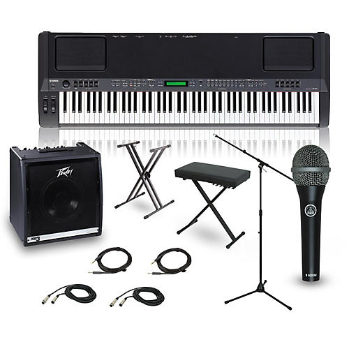 yamaha cp 300 88 key complete stage piano package guitar. Black Bedroom Furniture Sets. Home Design Ideas