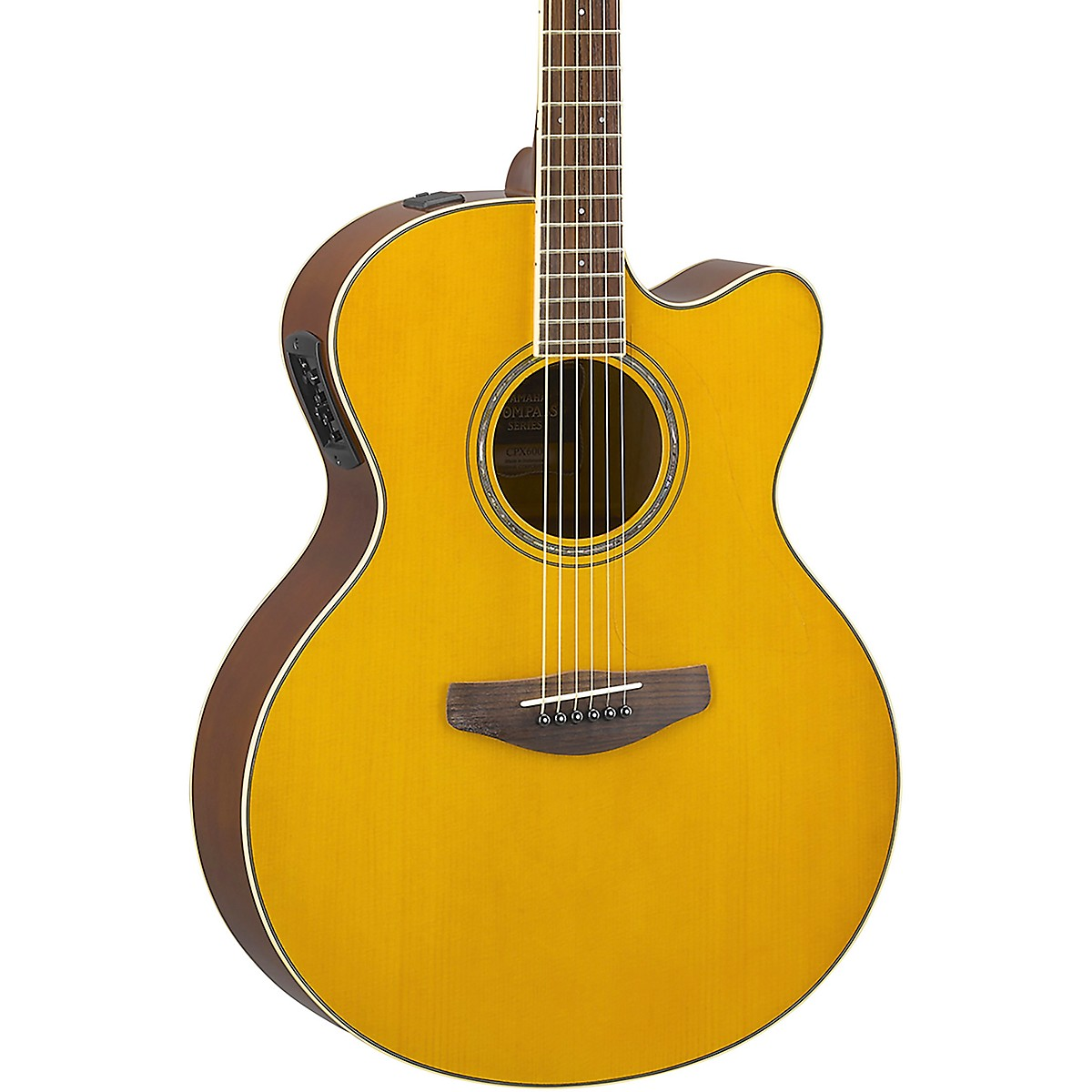 Yamaha CPX600 Medium Jumbo Acoustic-Electric Guitar