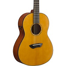 CSF-TA TransAcoustic Parlor Acoustic-Electric Guitar Level 2 Vintage Natural 194744104718