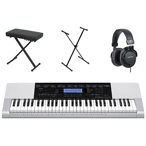 Casio CTK-4200 61-Key Portable Keyboard  with Bench, Stand, & Headphones