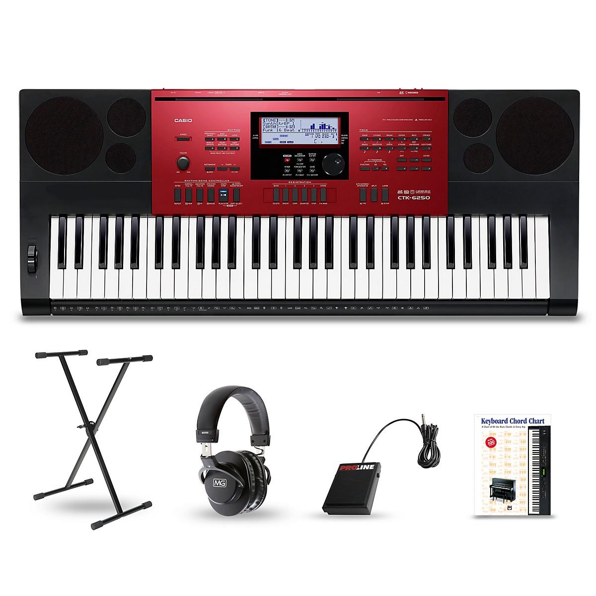 Casio CTK-6250 61-Key Portable Keyboard Package