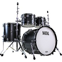 Cafe Racer US Fusion 22 4-Piece Shell Pack with 22 in. Bass Drum Matte Black Hot Rod Suede