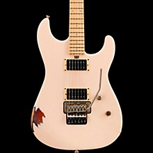 Cali Aged Electric Guitar Double Burst Shell Pink over 3 Tone Burst