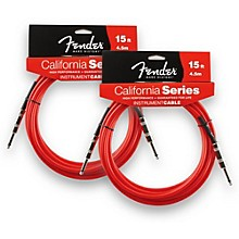 Fender California Instrument Cable Candy Apple Red 15 ft. 2-Pack