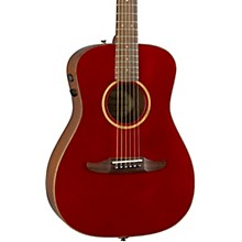 California Malibu Classic Acoustic-Electric Guitar Level 2 Hot Rod Red Metallic 190839863355