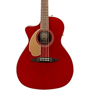 Fender California Newport Player Left-Handed Acoustic-Electric Guitar Candy Apple Red