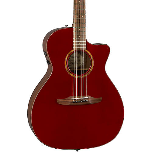 fender california newporter classic acoustic electric guitar hot rod red metallic guitar center. Black Bedroom Furniture Sets. Home Design Ideas