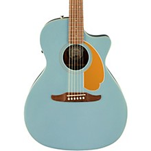 California Newporter Player Acoustic-Electric Guitar Ice Blue Satin