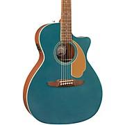 California Newporter Player Acoustic-Electric Guitar Ocean Teal Satin