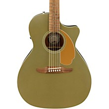 California Newporter Player Acoustic-Electric Guitar Olive Satin
