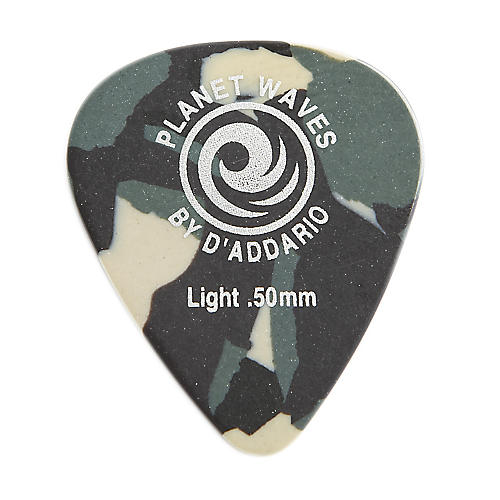 D'Addario Planet Waves Camouflage Celluloid Guitar Picks