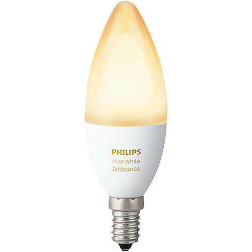 Philips Hue Candelabra White Ambiance 40W Equivalent E12 LED Light Bulb