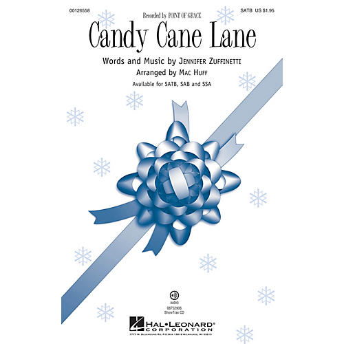 Hal Leonard Candy Cane Lane SATB by Point Of Grace arranged by Mac Huff