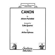 Southern Canon (Cello Quartet) Southern Music Series Arranged by Arthur Ephross