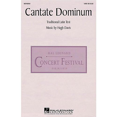 Hal Leonard Cantate Dominum SATB composed by Hugh Davis