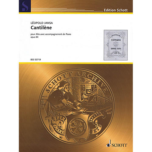 Schott Cantilène, Op. 84 (Viola and Piano) String Series Softcover