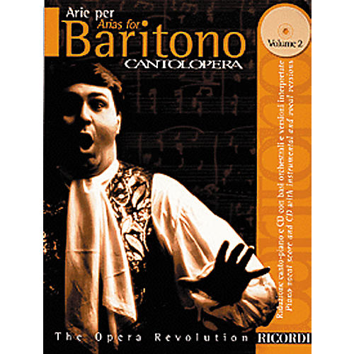 Hal Leonard Cantolopera Arias for Baritone - Volume 2 Book/CD