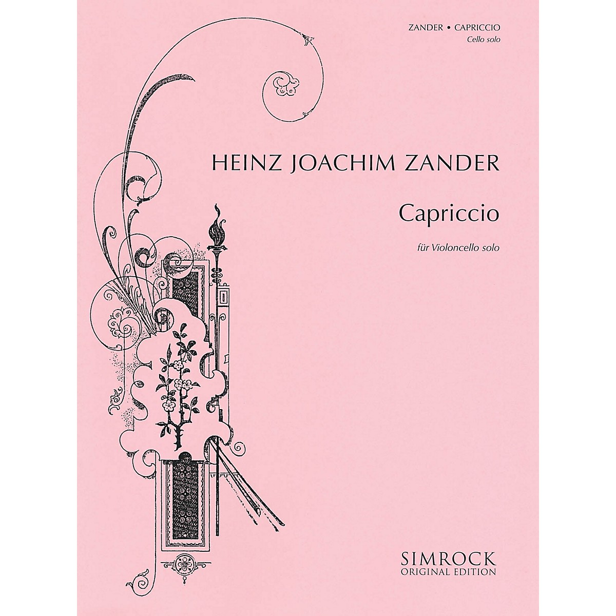 Simrock Capriccio (Cello Solo) Boosey & Hawkes Chamber Music Series