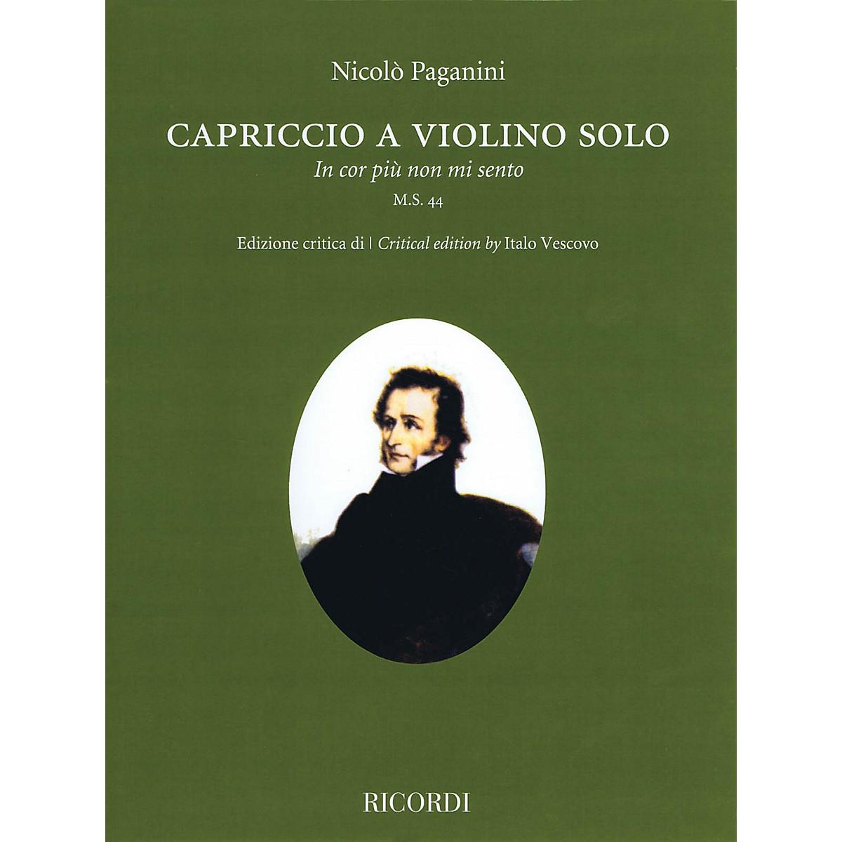 Ricordi Capriccio (In cor piu non mi sento) M.S. 44 Violin Solo