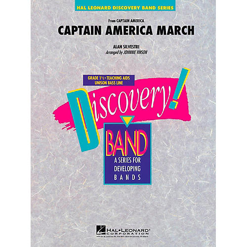 Hal Leonard Captain America March Concert Band Level 1.5