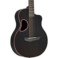Carbon Series Touring Acoustic-Electric Guitar Pink Binding